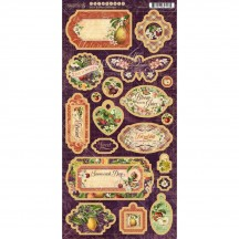 Graphic 45 Fruit & Flora Die-Cut Decorative Chipboard Sheet 4502002