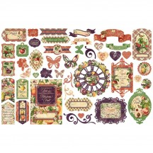 Graphic 45 Fruit & Flora Die-Cut Cardstock Ephemera Pieces 4502005