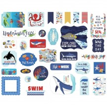 Carta Bella Fish are Friends Ephemera Die Cut Cardstock Pieces FAF111024