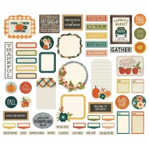 Simple Stories Fall Farmhouse Journal Bits & Pieces Die-Cut Cardstock Embellishments 11121