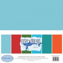 "Carta Bella Fish are Friends 12""x12"" Solids Paper Kit FAF111015"