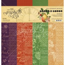 "Graphic 45 Fruit & Flora Patterns & Solids 12""x12"" Paper Pad 4502001"