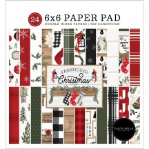 "Carta Bella Farmhouse Christmas 6""x6"" Double-Sided Paper Pad FAC123023"