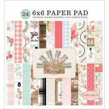 "Carta Bella Farmhouse Market 6""x6"" Double-Sided Paper Pad FAR113023"