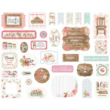 Carta Bella Farmhouse Market Ephemera Die Cut Cardstock Pieces FAR113024
