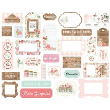 Carta Bella Farmhouse Market Frames & Tags Ephemera Die Cut Cardstock Pieces FAR113025
