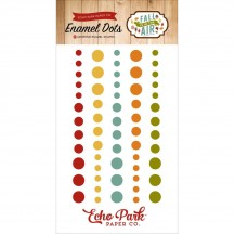 Echo Park Fall Is In The Air Enamel Dots - red, yellow, orange, green FAI112028