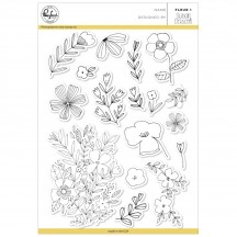 "Pinkfresh Studio Fleur 1 6""x8"" Clear Stamp Stamp Set PFCS2418"