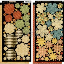 Graphic 45 Papercrafting French Country Double-Sided Cardstock Flowers 4500642