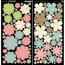 Graphic 45 Papercrafting Botanical Tea Double-Sided Cardstock Flowers 4500891