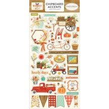 Carta Bella Fall Market Self Adhesive Chipboard Accents Stickers AM105021