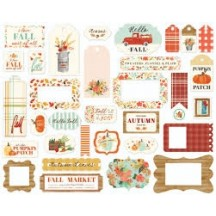 Carta Bella Fall Market Frames & Tags Ephemera Die Cut Cardstock Pieces AM105025