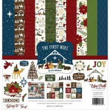 """Echo Park The First Noel Christmas 12""""x12"""" Collection Kit TFN256016"""