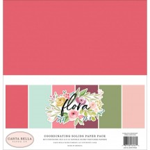 "Carta Bella Flora No 3 12""x12"" Solids Paper Kit F117014"
