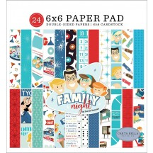"Carta Bella Family Night 6""x6"" Double-Sided Paper Pad FN114023"