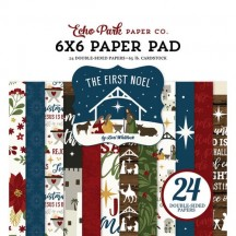 """Echo Park The First Noel Christmas Double-Sided 6""""x6"""" Paper Pad TFN256023"""