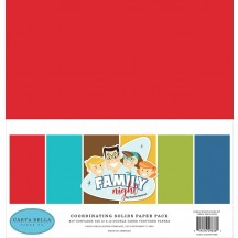 "Carta Bella Family Night 12""x12"" Solids Paper Kit FN114015"
