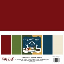 """Echo Park The First Noel 12""""x12"""" Solids Paper Kit TFN256015"""