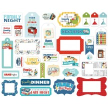 Carta Bella Family Night Frames & Tags Ephemera Die Cut Cardstock Pieces FN114025