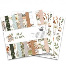 "P13 Forest Tea Party 12""x12"" Scrapbook Paper Pad P13-FOR-08"