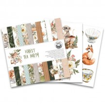 "P13 Forest Tea Party 6""x6"" Designer Paper Pad P13-FOR-09"