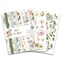"P13 Forest Tea Party 6""x8"" Designer Paper Pad P13-FOR-10"