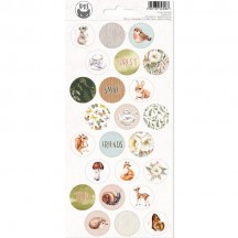 P13 Forest Tea Party Circle Icon Stickers 03 P13-FOR-13