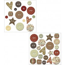 Fancy Pants Home For Christmas Mingled Buttons - 1673