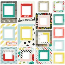 Simple Stories Life in Color Printed Chipboard Frames 5038