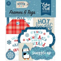 Echo Park Celebrate Winter Frames & Tags Die Cut Cardstock Ephemera Pieces CW162025