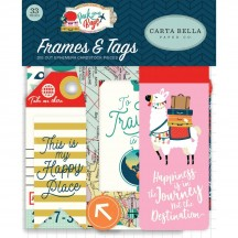 Carta Bella Pack Your Bags Frames & Tags Ephemera Die Cut Cardstock Pieces CBPYB86025
