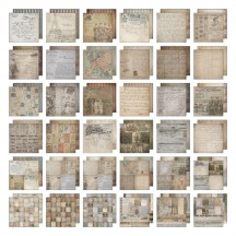 """Tim Holtz Idea-ology French Industrial 12""""x12"""" Paper Stash"""