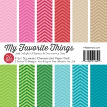 "My Favorite Things Fresh Squeezed Chevron 6""x6"" Paper Pack"