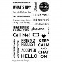 My Favorite Things LLD Friend Request Clear Stamps LLD30