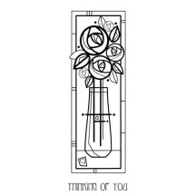 Woodware Tall Deco Vase Clear Magic Stamp Set FRS348