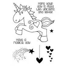 Woodware Unicorn Clear Magic Stamp FRS643