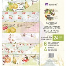 "Prima Fruit Paradise 12""x12"" Double-Sided Paper Pad 24 sheets 638368"