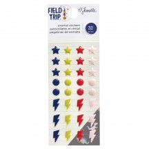 American Crafts Shimelle Field Trip Enamel Dots & Shapes 352211