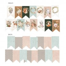 P13 Forest Tea Party Garland Die-Cut Cardstock P13-FOR-32
