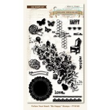 My Mind's Eye Follow Your Heart Stamp Set - Be Happy
