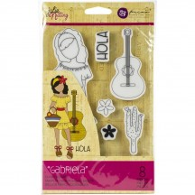 Prima Marketing Gabriela Julie Nutting Mixed Media Doll Rubber Cling Stamp 912901
