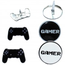 Eyelet Outlet Video Game Controller & Gamer Button Decorative Brads