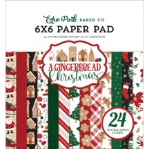 "Echo Park A Gingerbread Christmas 6""x6"" Double-Sided Paper Pad GC221024"