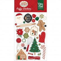 Echo Park A Gingerbread Christmas Puffy Icon Stickers GC221066