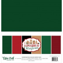 "Echo Park A Gingerbread Christmas 12""x12"" Solids Paper Kit GC221015"