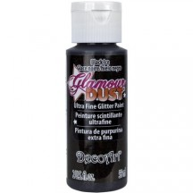 DecoArt Glamour Dust Black Ice Ultra Fine Glitter Paint - DGD21