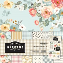 "My Mind's Eye Gingham Gardens 12""x12"" Double-Sided Paper & Accessories Kit GF2111"