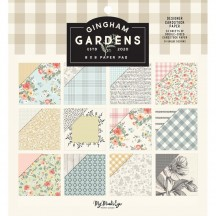 "My Mind's Eye Gingham Gardens 6""x6"" Double-Sided Paper Pad GF2110"