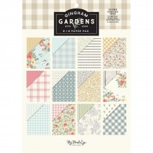 "My Mind's Eye Gingham Gardens 6""x8"" Double-Sided Paper Pad GF2124"