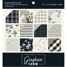 "My Mind's Eye Gingham Farm 6""x6"" Double-Sided Paper Pad GHF110"